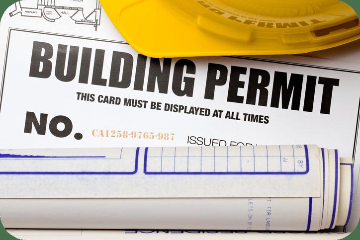 Building permit for landscape project