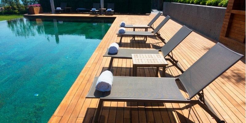 deck surrounding pool